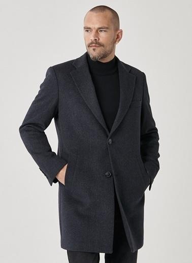 Beymen Business Standart Fit Desenli Palto 4B0521100007 Antrasit